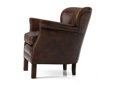 Professor Chair Restoration Hardware by Professor S Leather Chair 3d Model Restoration Hardware