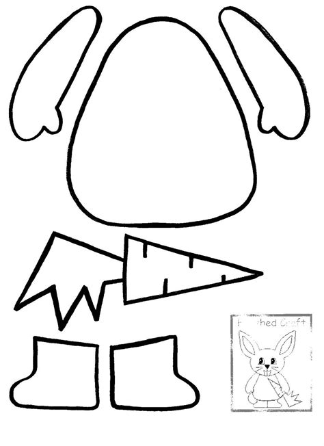 bunny template printable easter bunny printable templates happy easter 2018