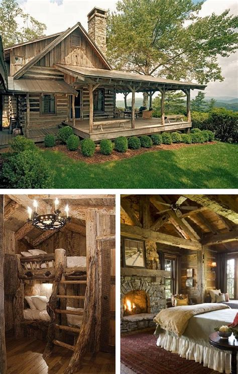 rustic cabin rustic log cabin living diy cozy home