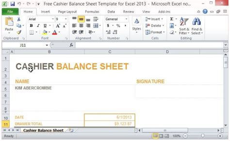 drawer balance sheet template best photos of daily sheet template excel