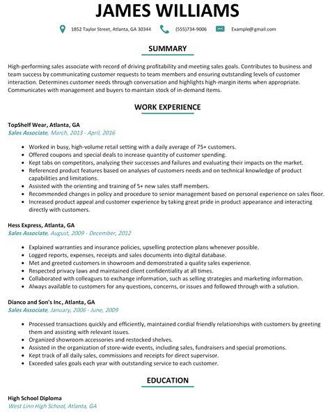 retail sales associate resume examples ideas business document