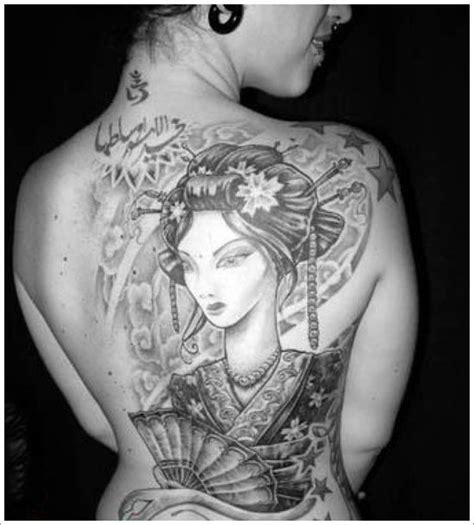 tattoo geisha schiena tatouage japonais geisha mod 232 les et exemples
