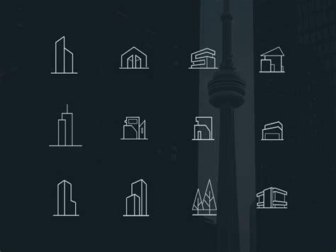 minimal architecture minimal architecture line icons freebie