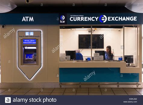 bureau de change 93 exchange airport stock photos exchange