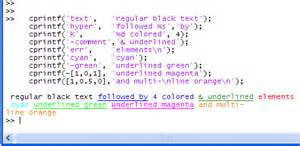 matlab text color cprintf display formatted color text in the command