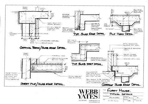 Floor Plan Sketches by Typical Details Slab Edge Pile Head Slab Step Garage