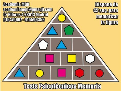 test memoria psico piramides academia mgh