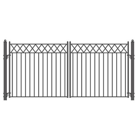 dual swing gate aleko stockholm style swing dual iron driveway gates 12