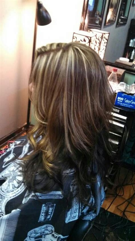 highlights and lowlights with long layered haircut my highlights lowlights layers long hair hair ideas pinterest