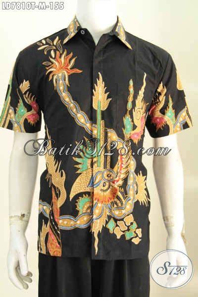 Kemeja Batik Songket Hitam Pria Lengan Pendek Baju Batik Songket 1 batik kemeja dasar hitam baju batik pria lengan pendek size m bahan halus motif trendy proses