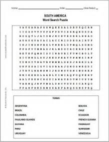 free printable south america word search puzzle student