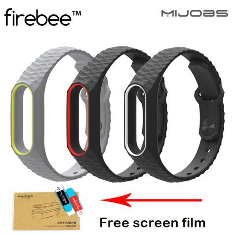 Mijobs Silicone Dual Color Mi Band 2 Wristband Original newest mijobs silicone smart wristband for xiaomi mi band 2 straps smart band replacement