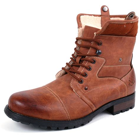 mens shearling boots mens faux fur boots b3 aviator bomber faux sheepskin