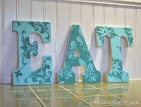 Teal Kitchen Accessories Turquiose Amp Teal Kitchen Accents Stencilled Wall Letters