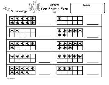 17 best images of tens frame addition math worksheets