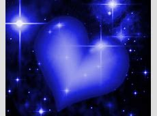 Royal Blue Heart With Starry Background Background Image ... Blue Heart Background Wallpaper