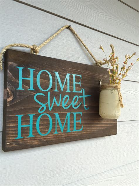 decorative home signs rustic outdoor teal home sweet home wood signs front door