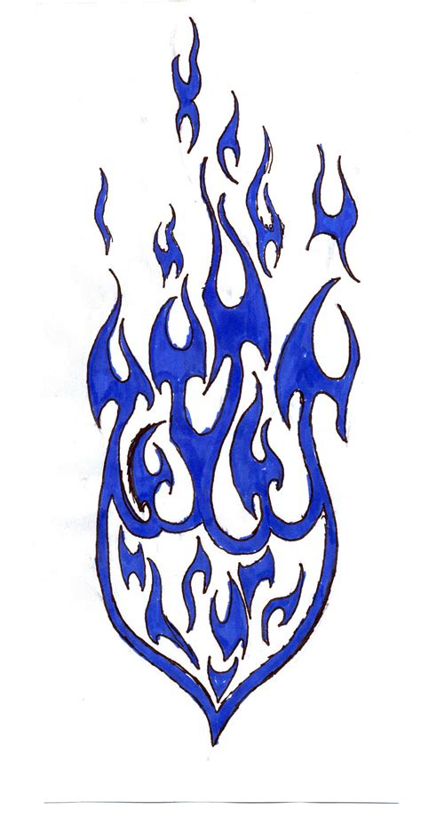 blue tribal tattoo 30 design stencils