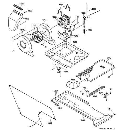 ge dryer belt diagram dryer motor blower belt diagram parts list for model