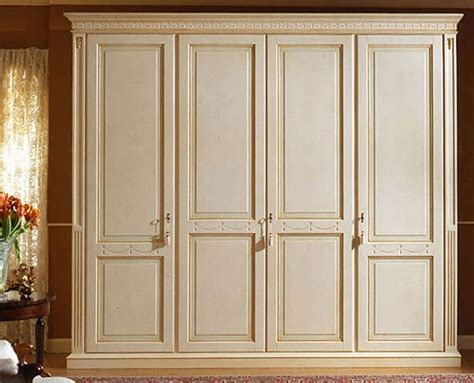 Luxury Wardrobes by Luxurious Lacquered Wardrobe With 4 Doors Paneled Wood