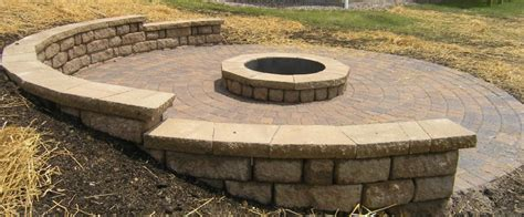 how to build a pit with retaining wall blocks minnesota retaining wall company