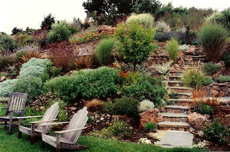 landscaping ideas for hillside backyard steep slope landscaping on a hillside
