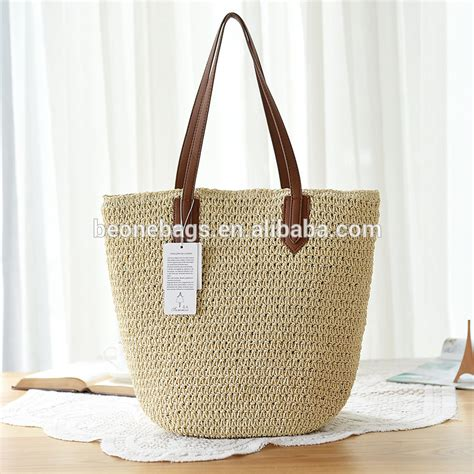 Straw Bag straw bag leather travel bags for