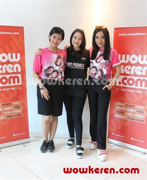 film pinky promise derby romero foto media visit pemeran film pinky promise ke kantor