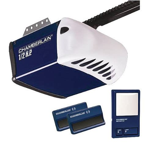 Single Garage Door Opener chamberlain pd212d 1 2 hp chain drive garage door opener