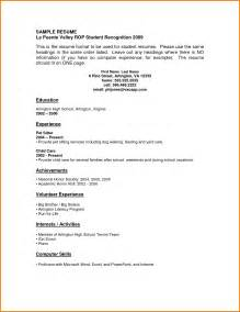 resume example with no experience 9 first resume no experience sample financial statement free 6 microsoft word doc professional job resume and cv