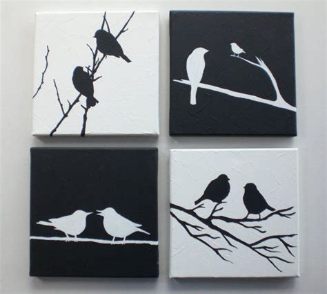 imagenes en lienzo negro 17 mejores ideas sobre pinturas de aves en pinterest