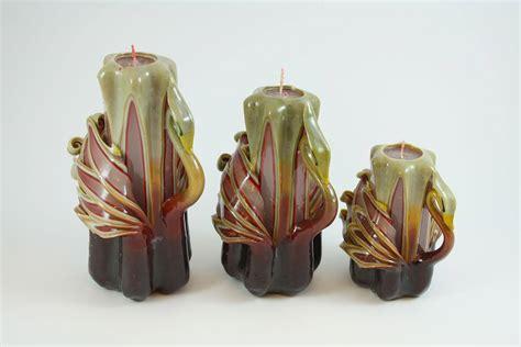 candele intagliate candela intagliata cigno marrone e bordeaux candele shop