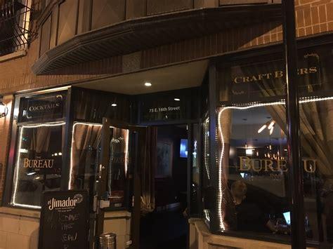 the bureau restaurant the bureau bar in chicago the bureau bar 75 e 16th st