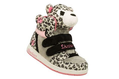 leopard print athletic shoes skechers toddler s sugar pets plush animal hightop