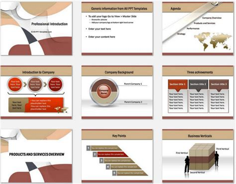 professional powerpoint presentation template powerpoint professional introduction template
