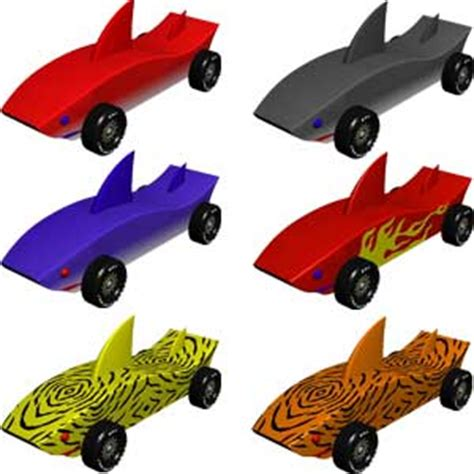 pinewood derby shark template cars sharks and derby cars on