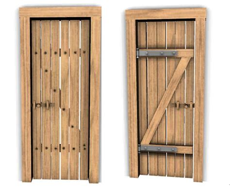simple door mod the sims simple wood door