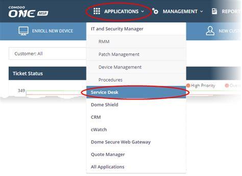 Www Desk Login by Login To The Service Desk Module Service Desk Comodo One
