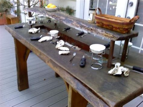 oyster table    build  coffee room
