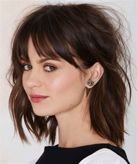 Wedding Hairstyles With Across Bangs by Shoulder Length Hairstyles Hairstyles 2016 And Bangs On