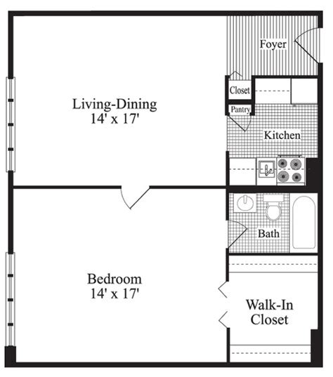 house plans 24x24 one bedroom plan of a house
