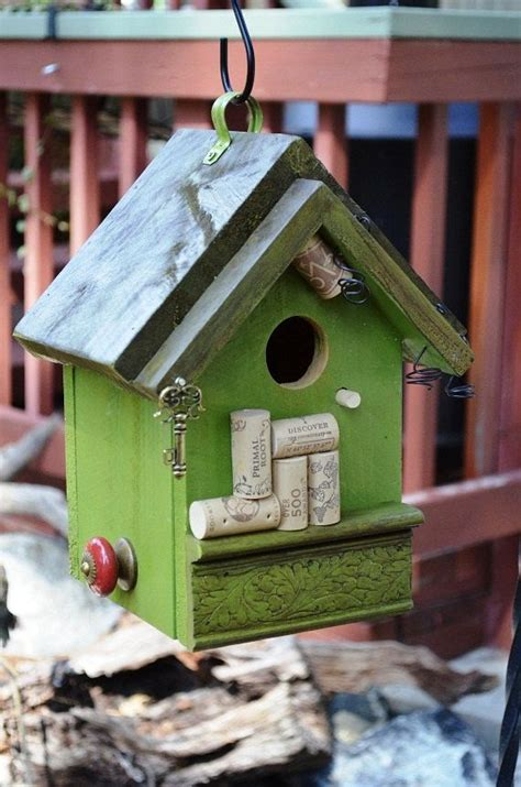Handmade Birdhouses And Feeders - got corks need a place to store them would this