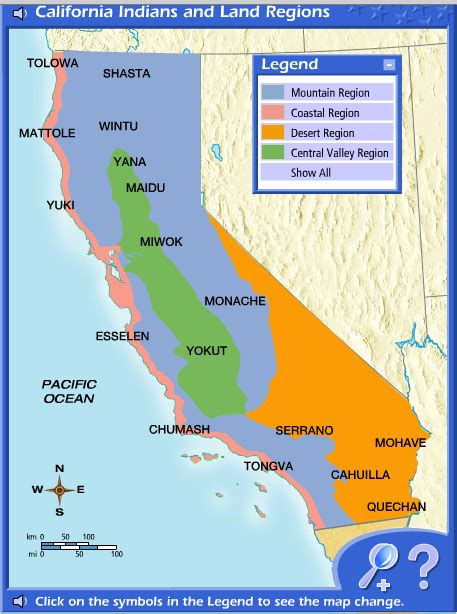 map of california regions california map