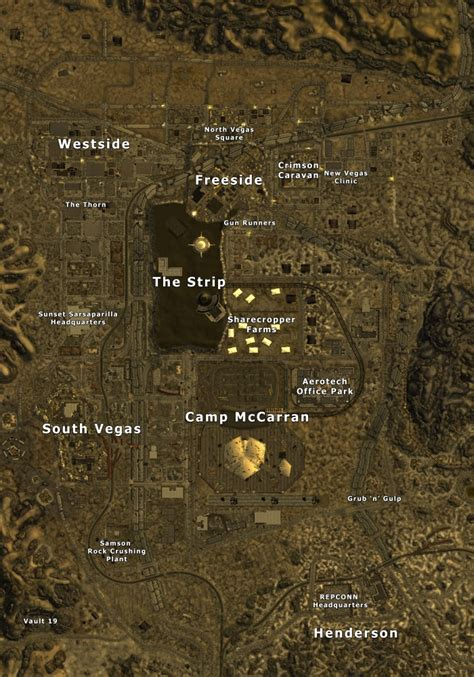 new vegas map new vegas the vault fallout wiki fallout 4 fallout new vegas and more