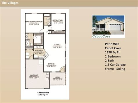 the villages home floor plans the villages homes patio villas cabot cove model