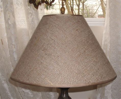 burlap l shade lshade shabby cottage lighting table l drum burlap l shade for home