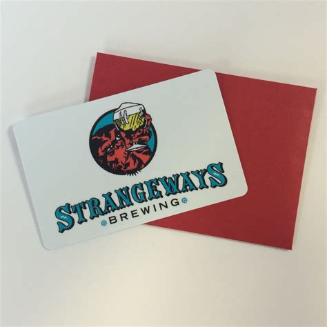 Brewery Gift Cards - gift card strangeways brewing exquisitely peculiar craft beer richmond va