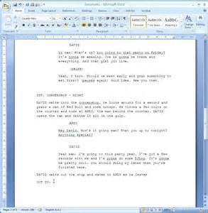play format template how to format your script