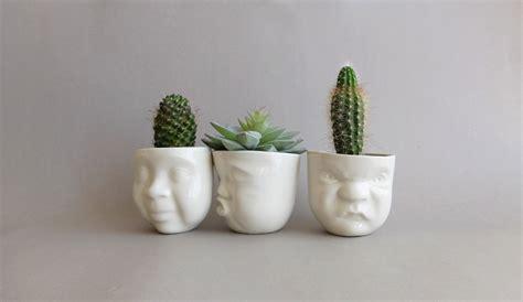 Face Planters ceramic planter smallsucculent plantermodern planterface