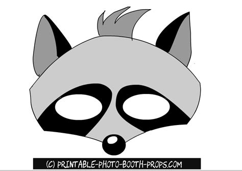 printable raccoon mask free printable animals photo booth props